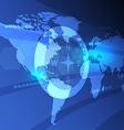 digital world map background vector image vector image