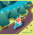 downshifting couple isometric background vector image vector image