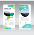 ECO Business Roll Up Banner flat design template vector image vector image