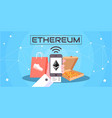 ethereum cryptocurrency blockchain vector image
