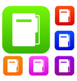 file folder set color collection vector image vector image