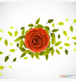 floral pattern with rose and leafs vector image vector image