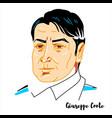 giuseppe conte portrait vector image vector image