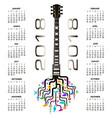guitar tree design 876 vector image vector image