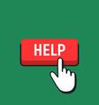hand mouse cursor clicks the help button vector image