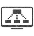 Hierarchy Monitoring Grainy Texture Icon vector image vector image