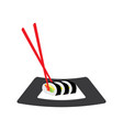 isolated sushi menu vector image