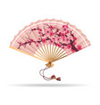 japan cherry blossom folding fan vector image vector image