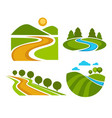 landscape corporate identity isolated icons nature vector image vector image