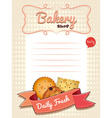 Line paper design with daily fresh cookies vector image vector image