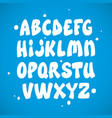 liquid comic font with splashes alphabet vector image vector image