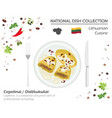 lithuania cuisine european national dish vector image vector image