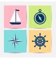 Marine symbols and icons vector image vector image