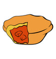 meat pie icon cartoon vector image vector image