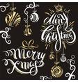 Merry christmas 4 vector image