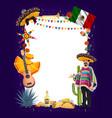mexican cinco de mayo fiesta party signboard vector image vector image