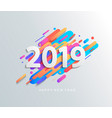 new year 2019 card on modern dynamic background vector image vector image