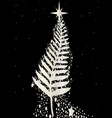 new zealand silver fern christmas tree vector image vector image