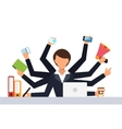 Office job stress work vector image vector image
