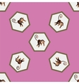 Pattern with a monkey vector image vector image