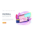 paycheck concept landing page vector image vector image