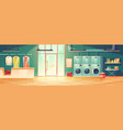 public laundry or dry cleaning washing machines vector image