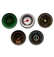 Racing cars speedometers set vector image vector image