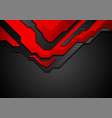 red and black contrast abstract technology vector image vector image