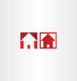 red square icon house real estate vector image vector image