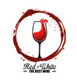 red wine cup label vector image