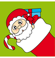 Santa Claus wishing Merry Christmas vector image