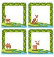 set of animal nature border vector image vector image