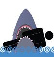 shark icon color vector image vector image