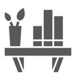 shelf glyph icon furniture and home bookshelf vector image vector image