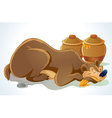 sleeping bear vector image