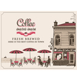 street cafes vector image vector image