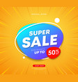 super sale business concept design on banner vector image