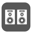 The audio icon Speaker and music sound stereo vector image vector image