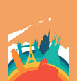 travel europe world landmark landscape vector image vector image