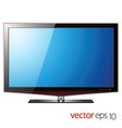 TV flat lcd screen realistic vector image vector image