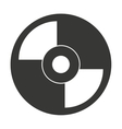 vinyl disc isolated icon design vector image vector image