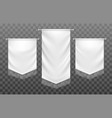 white medieval template banners vector image vector image