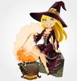 Witch and boiler of potion vector | Price: 5 Credits (USD $5)