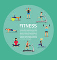 young people doing workout vector image