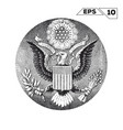 american eagle on one usa dollar bill vector image