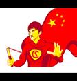 China superman vector image