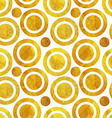 Seamless pattern of Golden circles vector image