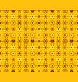 seamless pattern of vintage yellow flowers vector image