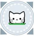 Cute little cat vector image