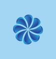 3d flower logo vector image